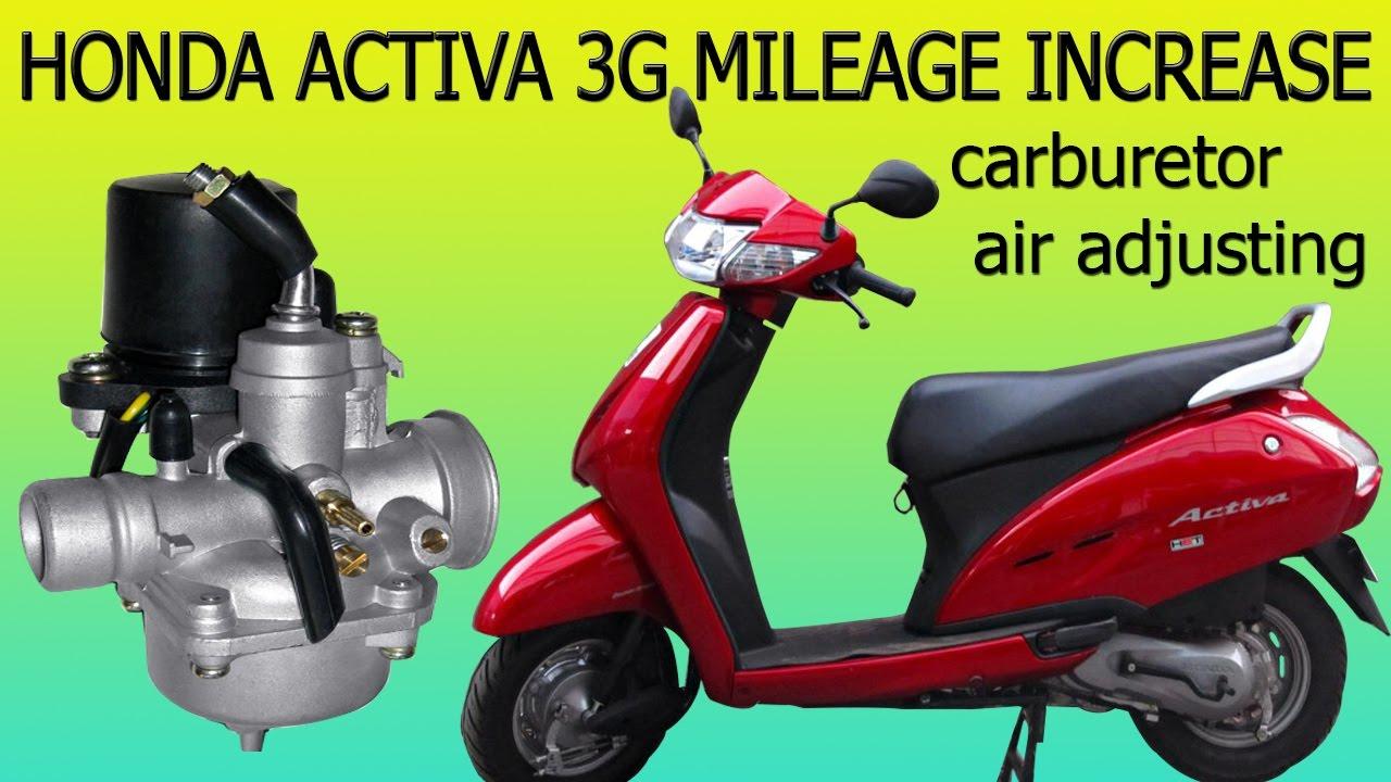Honda Activa 3g Mileage Setting Increase Will Get More Mileage