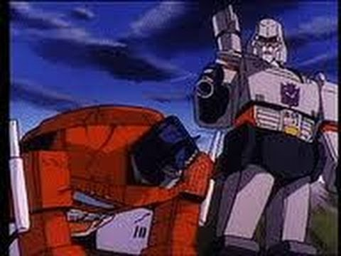 Optimus prime vs megatron final fight 1986 youtube - Transformers cartoon optimus prime vs megatron ...