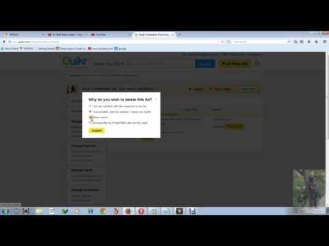 How to delete/remove quikr ad