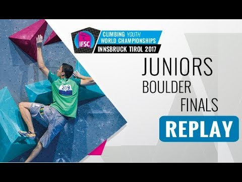 IFSC Youth World Championships Innsbruck 2017 - Bouldering - Male & Female Juniors Finals
