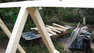 Как сделать крышу для колодца. Часть вторая: собственно крыша