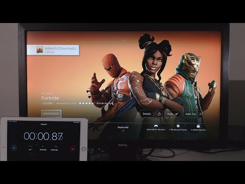 My World Record Fastest Fortnite Download On PS4 (1000Mbps Internet)