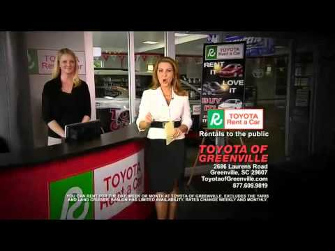 Car Rental Greenville Sc >> Car Rental At Toyota Of Greenville Greenville Sc Greer Sc