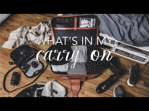 What's In My Carry On // Packing For One Week In Paris
