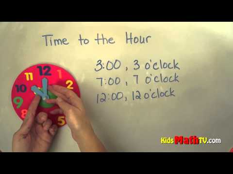 Telling Time to the Hour - 2nd Grade Math Tutorial