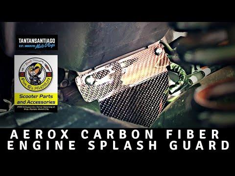 Carbon Fiber Engine Splash Guard For Yamaha Aerox