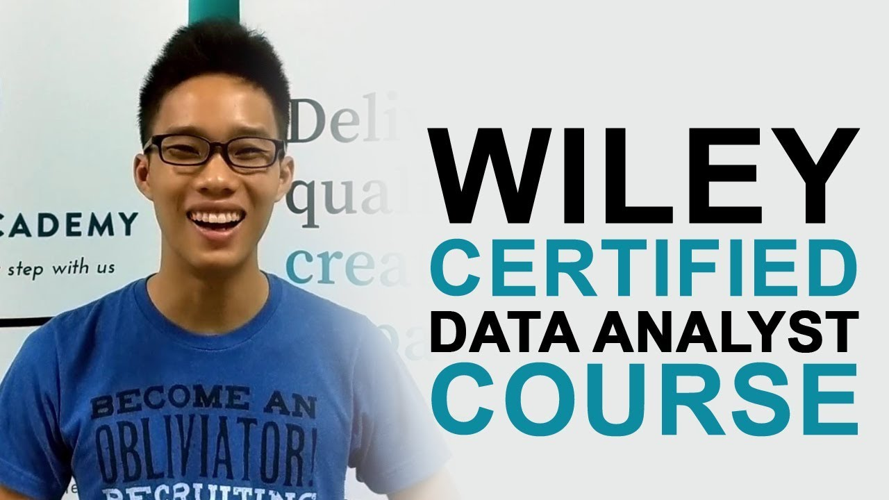 Be a Wiley Certified Data Analyst!