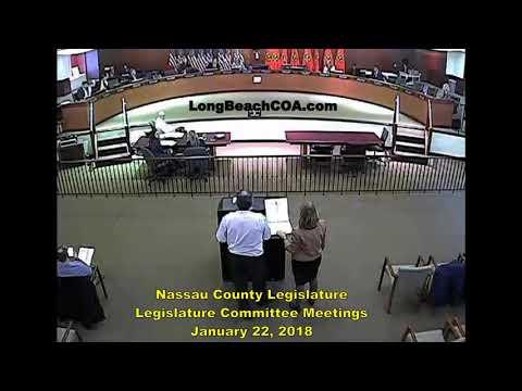 Nassau County NY Legislature Committees 01/22/18