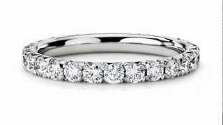 french pave diamond eternity ring in platinum 1 ct tw jewelry