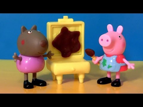 Peppa Pig Painting Together Danny Dog Peek
