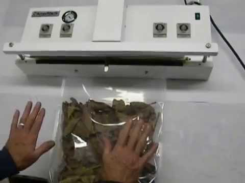 AmerivacS Vacuum Sealer Gas Purge Bag, Packer for Medical Marijuana