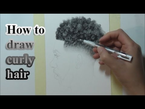 How To Draw Curly Hair Youtube