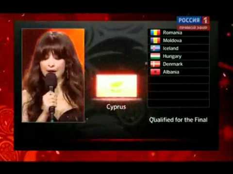 Евровидение 2012.1 полуфинал. результаты