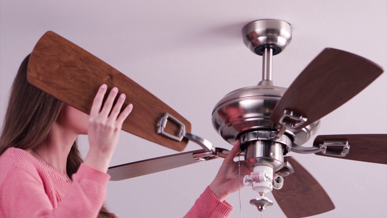 craftmade twist n click express ceiling fan installation [ 1280 x 720 Pixel ]