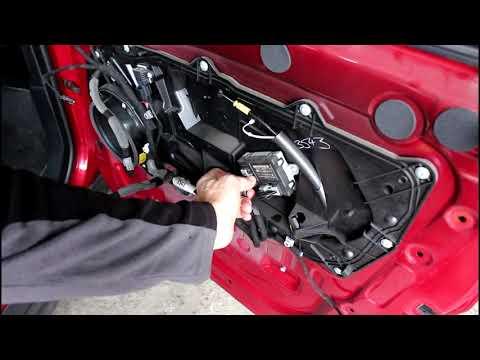 Ремонт замка передней двери на Range Rover Evoque 2,2 Ленд Ровер Эвок 2013 года 1часть