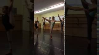 Stretching class for professional and amateur ballet dancers and gymnasts, junior and senior perfor