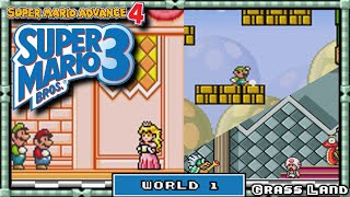 Super Mario Advance 4 - [Super Mario Bros 3] - Playthrough | World 1: Grass Land