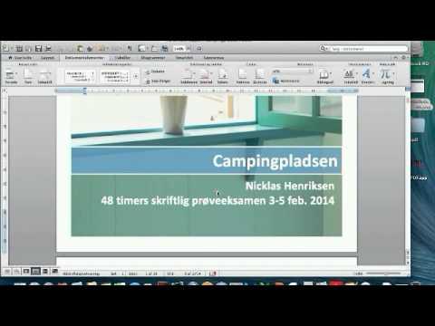 Sådan Laver Du En Forside I Word På Mac Youtube