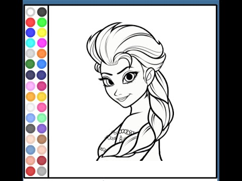 catalin ifrim elsa coloring pages - photo#2