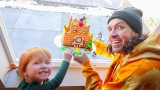 DROP TEST gingerbread house dropping from 45ft (what