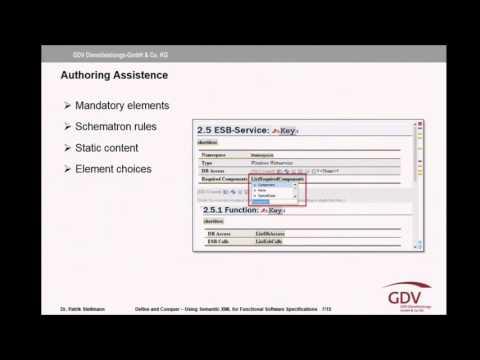 Patrik Stellmann (GDV DL): Define and Conquer – Using Semantic XML