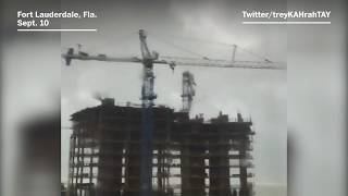 Cranes kept collapsing in South Florida during Hurricane Irma