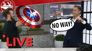 Testing Captain America Shield on LIVE TV!?