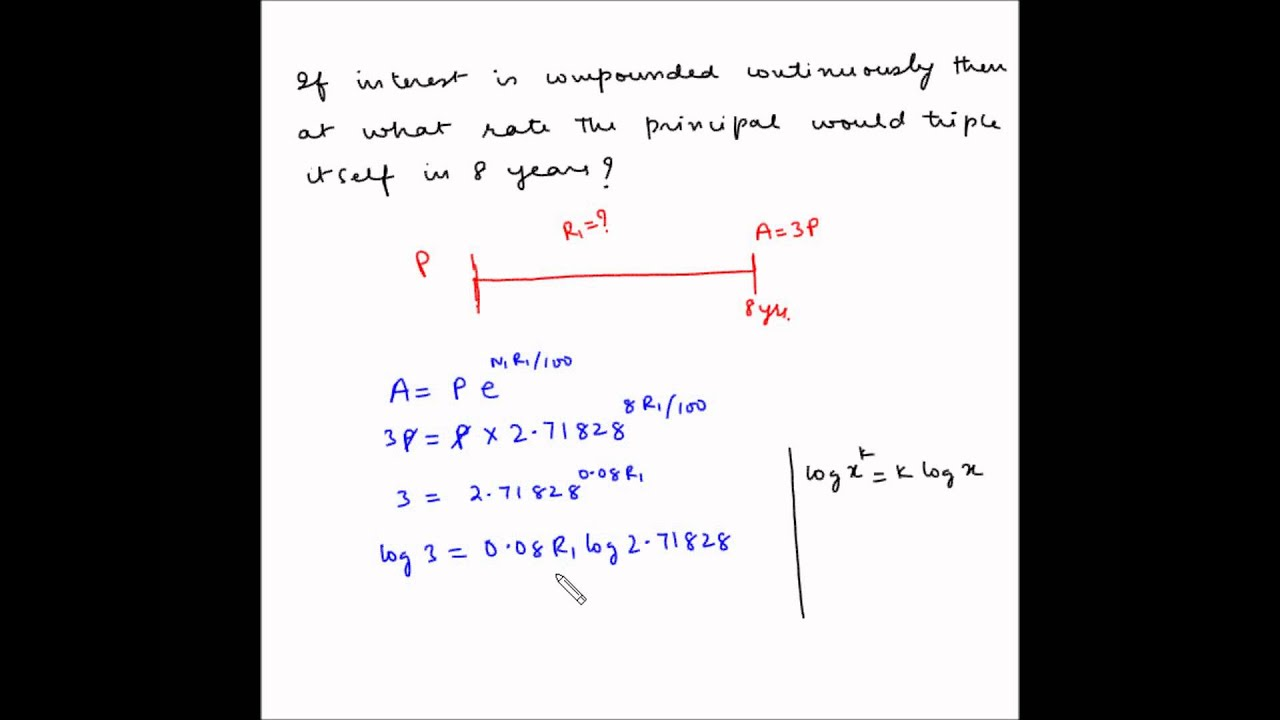 continuous compounding example 2 calculate rate of interest continuous compounding example 2 calculate rate of interest