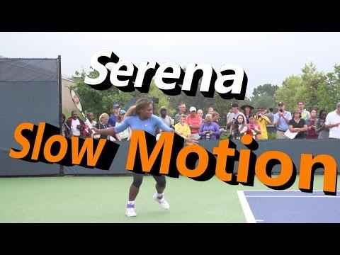 Serena Williams Slow Motion Forehand & Backhand (Cincinnati 2014)