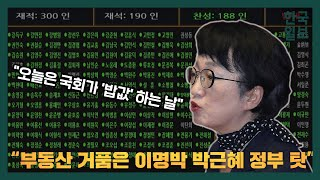 국회 본회의 '부동산 3법' 찬성 토론 김진애 열린민주…
