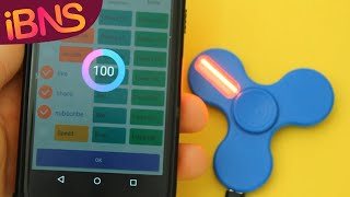 Fun with LED fidget spinners - Light up fidget spinners with your phone!