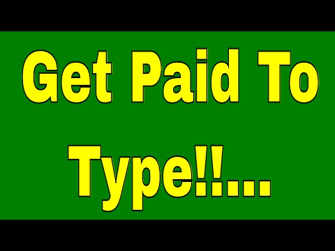 New Work From Home Job Opportunity!! Get Paid To Type...