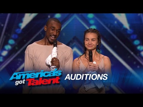 Freckled Sky Howard Stern Hits Golden Buzzer for Dance Duo - Americas Got Talent 2015
