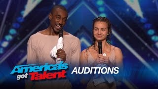 Freckled Sky: Howard Stern Hits Golden Buzzer for Dance Duo - America