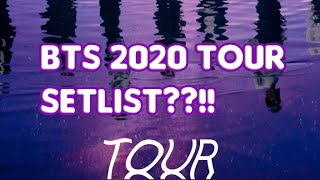 BTS 2020 TOUR - 7 POSSIBLE SONGS.