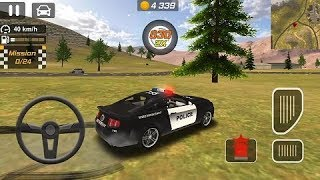 Polis Arabası Oyunları Direksiyonlu Araba Oyunları / Araba Oyunları İzle Çocuklar İçin /
