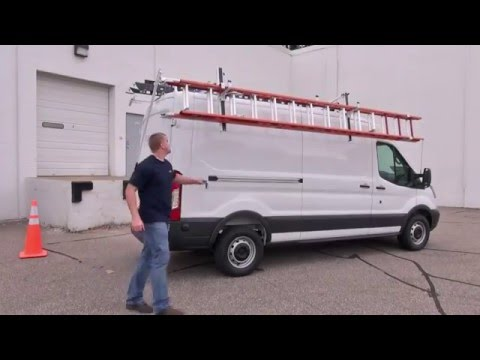american van equipment side access rotation ladder rack ford transit