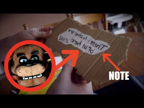 I FOUND A NOTE FROM FIVE NIGHT AT FREDDYS IN MY HOUSE! *OMG*