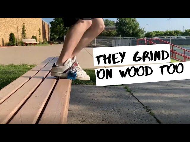 They Grind on wood too | Skidz Grindplates