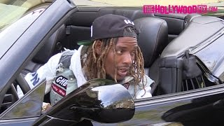 fetty wap arrives to his hotel in a ferrari after visiting his new baby 4516 thehollywoodfixcom