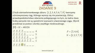 [Zadanie 9] Matura z matematyki poziom rozszerzony. Maj 2018.
