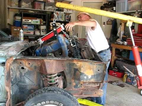 1968       Mustang    Engine and Transmission removal  part 1  YouTube