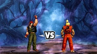 [King of Fighters vs. Street Fighter] Nuclear Ralf Vs Dragon Ken