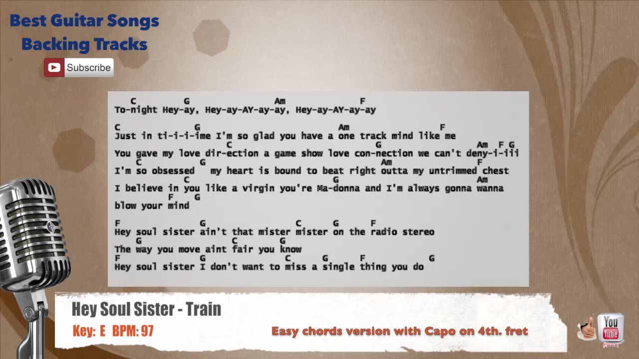Hey soul sister train vocal backing track with chords and lyrics hey soul sister train vocal backing track with chords and lyrics hexwebz Image collections