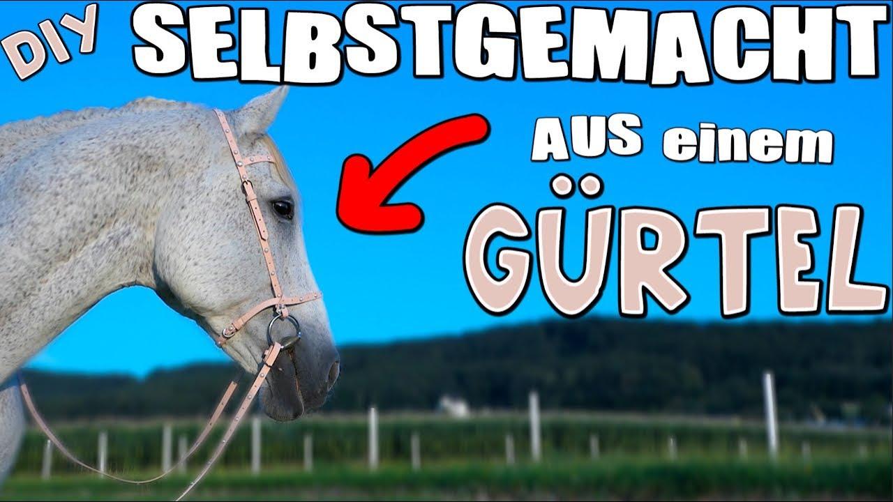 Aus einem GÜRTEL Zaumzeug/Trense selbstgemacht! - YouTube