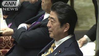 「そんなに興奮しないで」待機児童で・・・総理vs山尾氏(17/02/17)