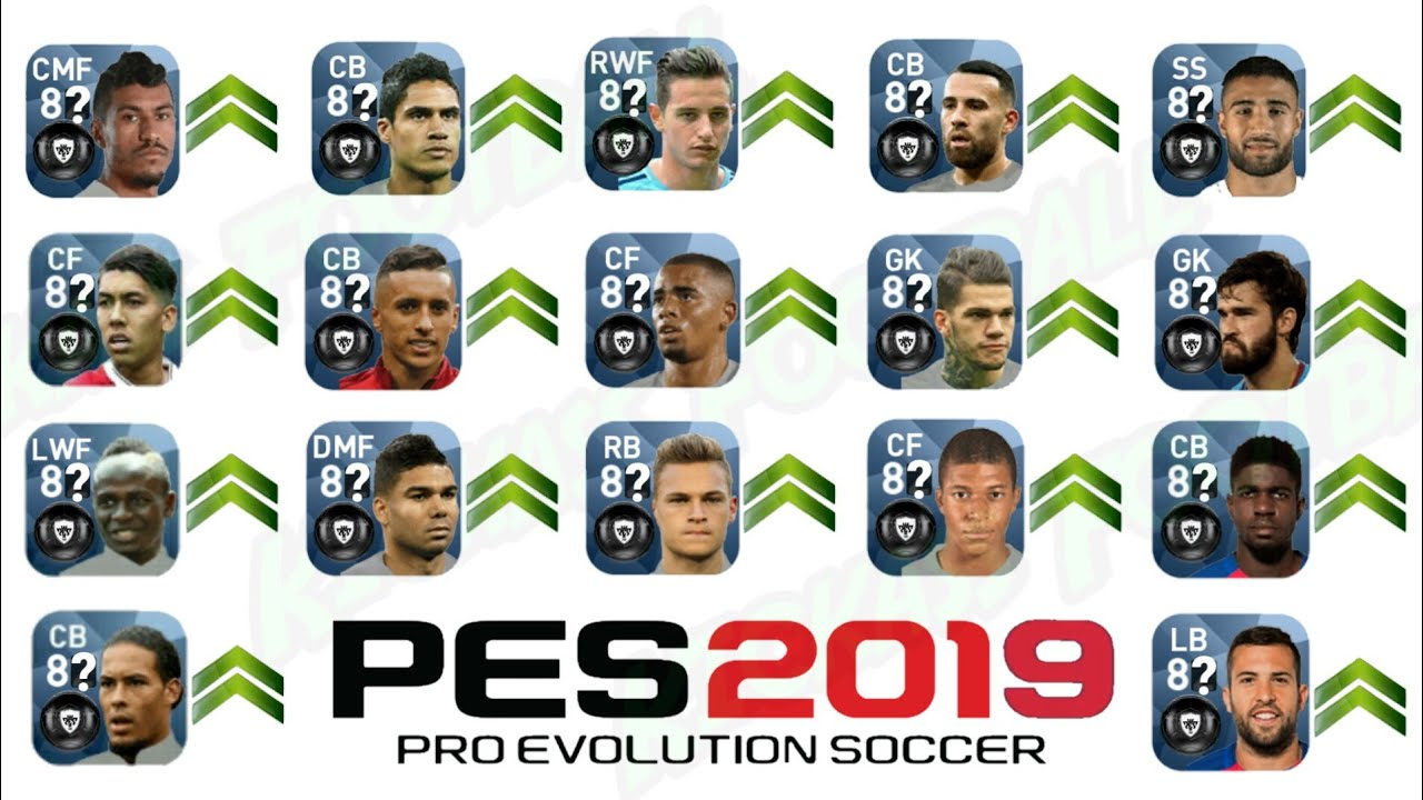 All GOLD to BLACK Ball Player Upgraded Ratings by KONAMI till 29/07/2018     PES 2019