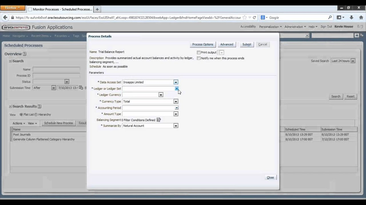 How To Run A Trial Balance in Oracle ERP Cloud General Ledger