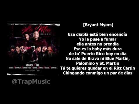 La Mia - Nio Garcia ft. Varios Artistas [LETRA-KARAOKE]
