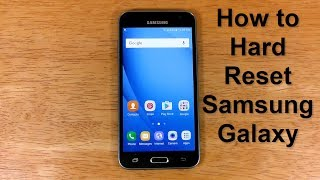 How to reset Samsung Galaxy UNLOCK & How to hard Reset Samsung Express Prime J3 - Free & Easy